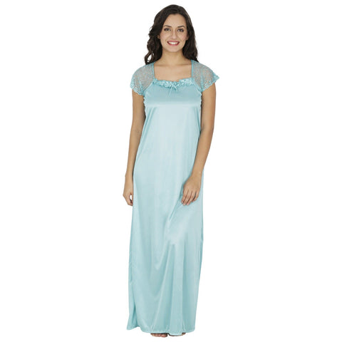 Klamotten Women's Satin Nightdress X10_Sea