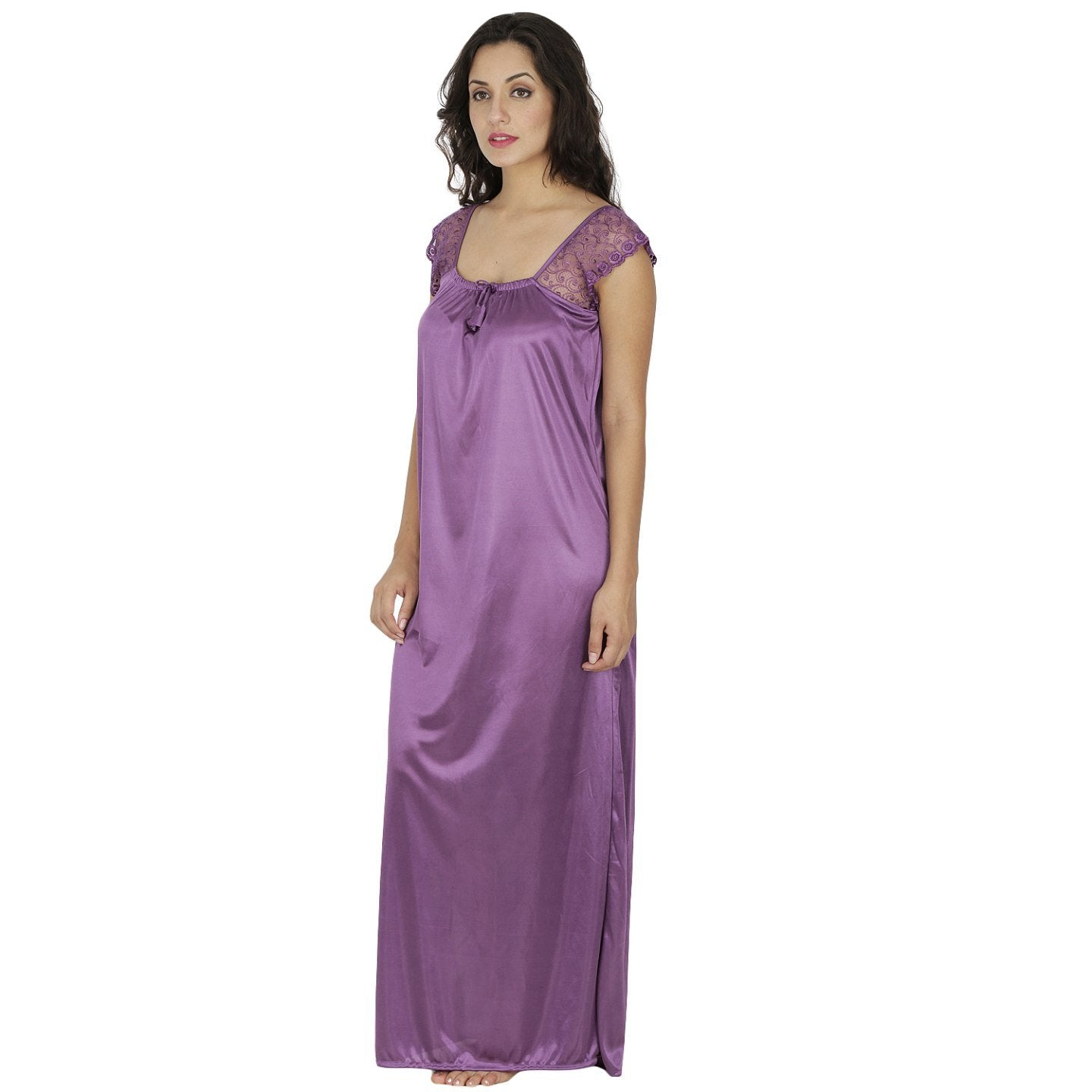 Klamotten Women's Satin Nightdress X48_SPrpl