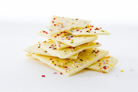 White Chocolate Slate with Sprinkles