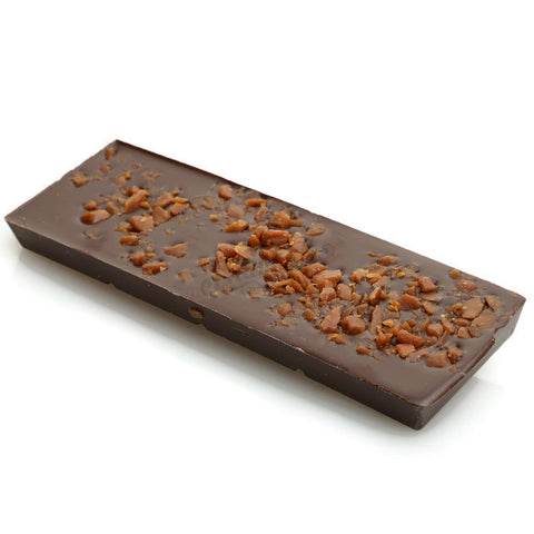 100g Dark Chocolate Bar with Toffee Pieces
