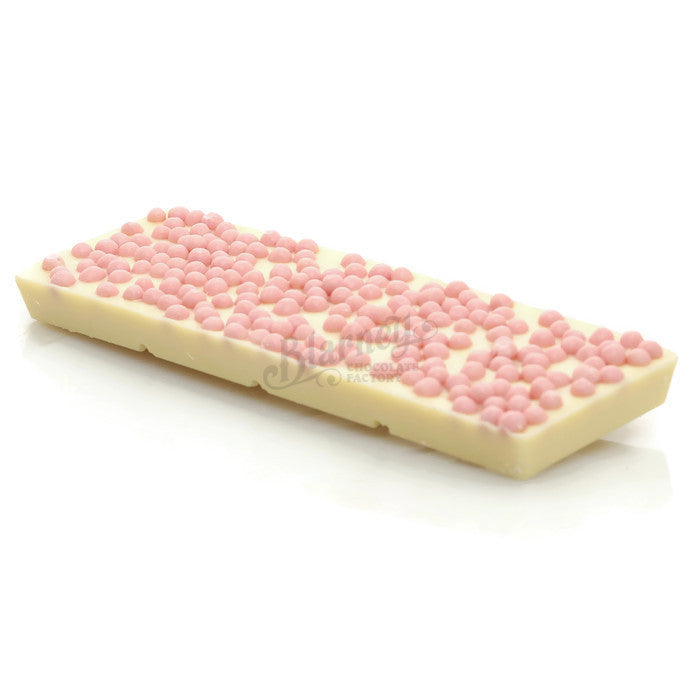 100g White Chocolate with Strawberry Crispies