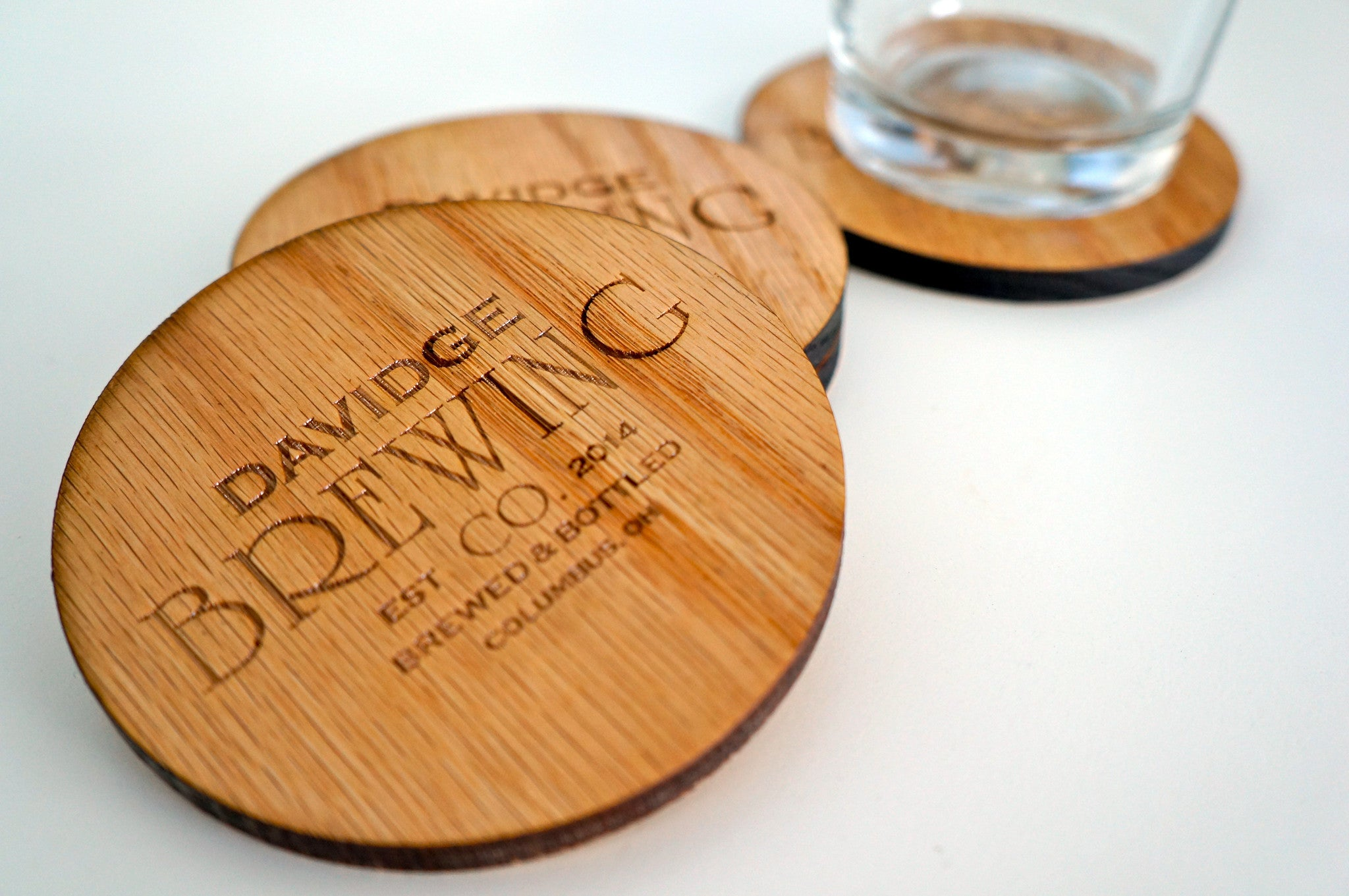8d37235b827 CUSTOM BREWERY BEER COASTERS - BEARDED WOODCRAFT