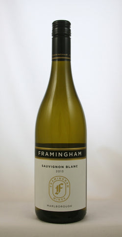 sustainable white wine NZ Sauvignon Blanc, Framingham, Marlborough 2013