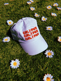 hat - GIRL POWER Baseball Cap - White - REDWOLF