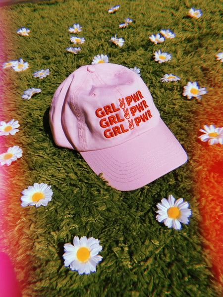 hat - GIRL POWER Baseball Cap - Light Pink - REDWOLF