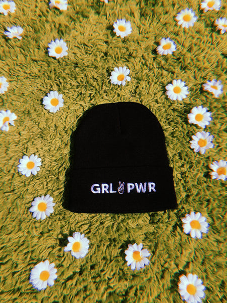 hat - GRL PWR Beanie - Black - REDWOLF