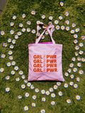 Bags - GIRL POWER TOTE BAG - PINK - REDWOLF