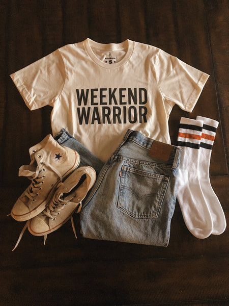 T-Shirts - Weekend Warrior Organic Cotton Tee - REDWOLF
