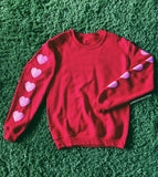 sweatshirt - Heart Sleeve Sweatshirt - REDWOLF