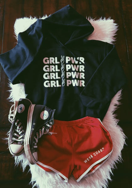sweatshirt - Girl Power Hoodie - Black - REDWOLF