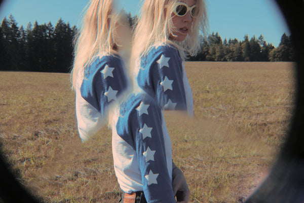 Seeing Stars Raglan - BLUE