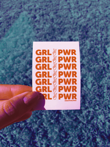 sticker - Girl Power Sticker - REDWOLF