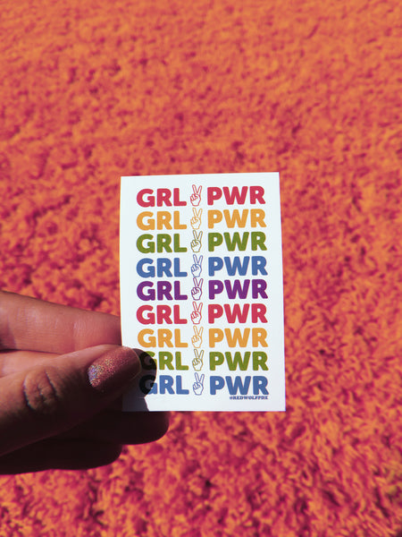 sticker - Girl Power Rainbow Sticker - REDWOLF