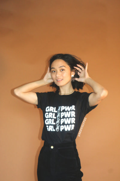 - Girl Power Tee - Black - REDWOLF