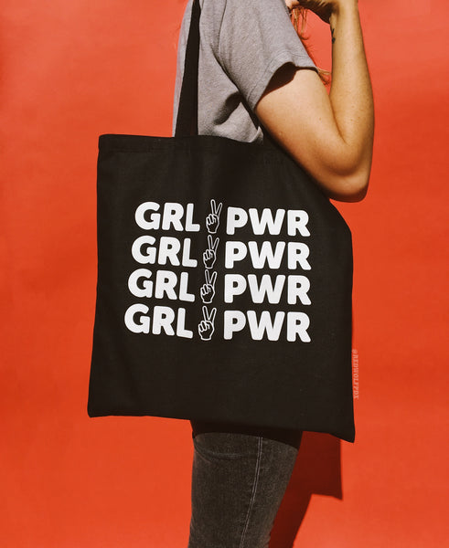 Bags - GIRL POWER TOTE BAG - BLACK - REDWOLF