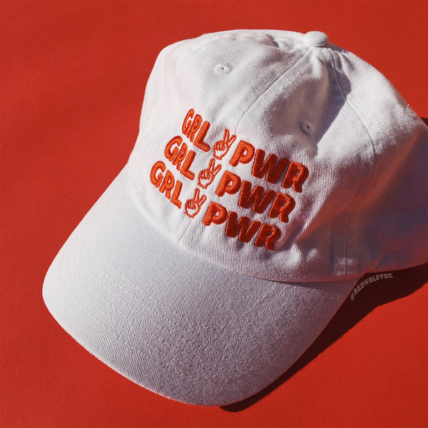 GIRL POWER Baseball Cap - White
