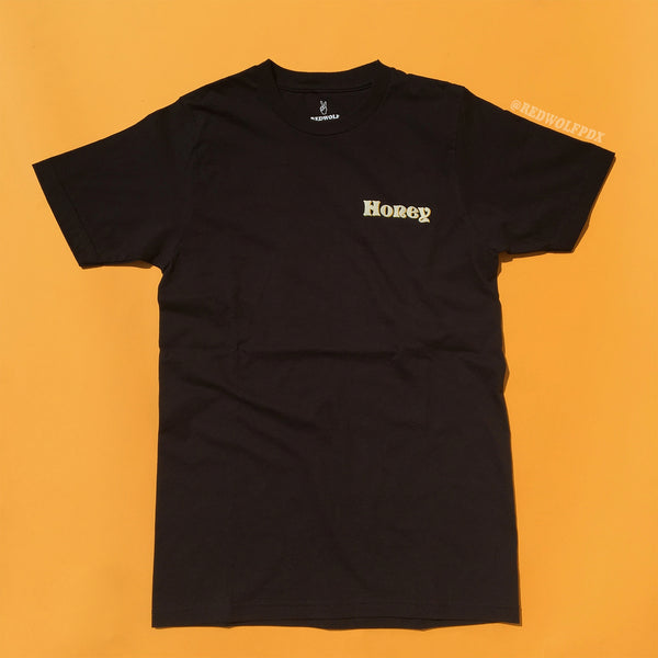 Honey Tee - Black Unisex fit -SAMPLE SALE