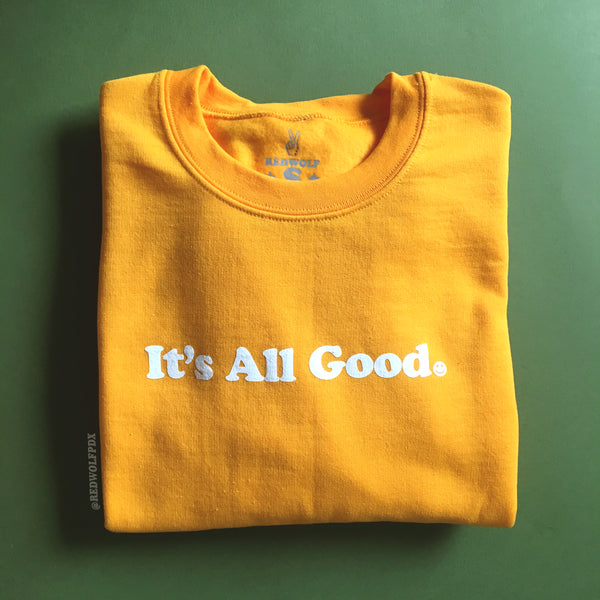 sweatshirt - IT'S ALL GOOD SWEATSHIRT - REDWOLF