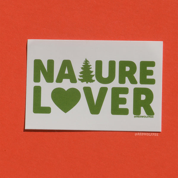 NATURE LOVER sticker