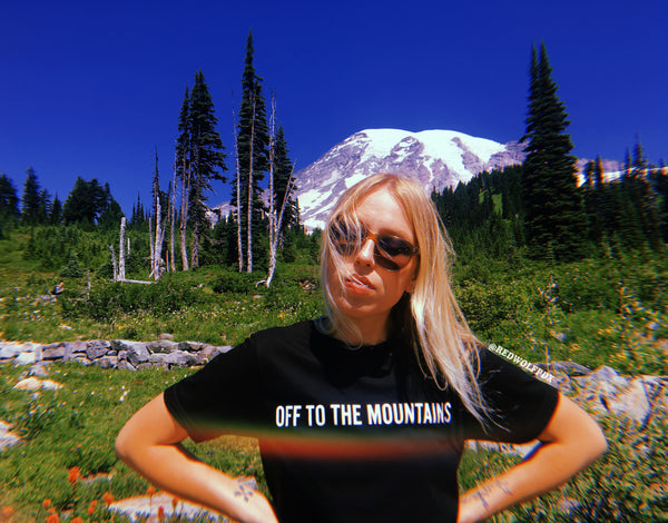 - Off to the Mountains Tee - REDWOLF