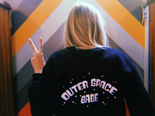 sweatshirt - Outer Space Babe Sweatshirt - REDWOLF