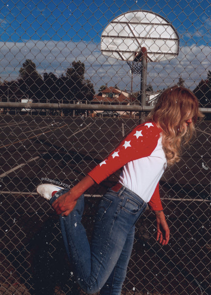 T-Shirts - Seeing Stars Raglan - RED - REDWOLF