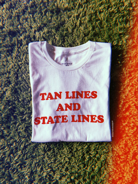 - Tan Lines and State Lines Tee - REDWOLF
