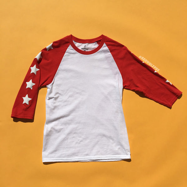 Seeing Stars Raglan - RED