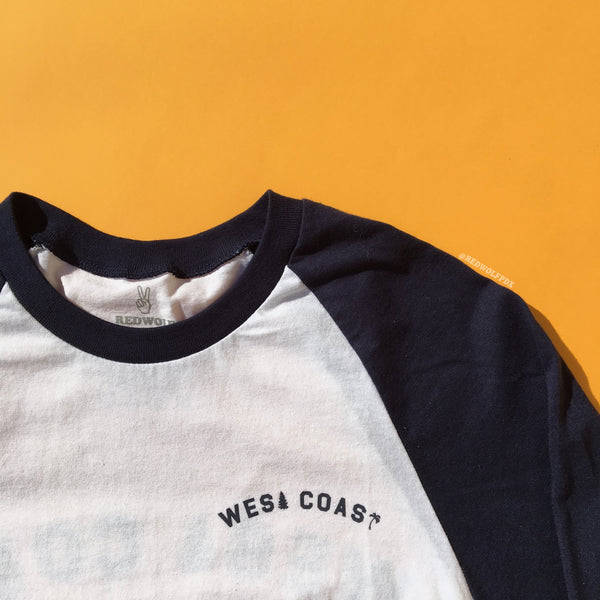 T-Shirts - West Coast Raglan - REDWOLF