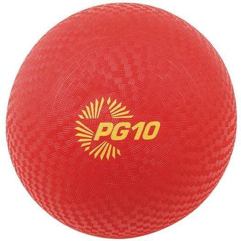 "10"" PG Playground Kickballs - Red - Nylon Wound - Ohio Fitness Garage - Olympia -PG Playground Kickballs Equipment"