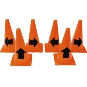 "12"" Arrow Safety Training Marker Cones - Set of 6 (2 each) - Ohio Fitness Garage - Olympia -Arrow Cones Equipment"