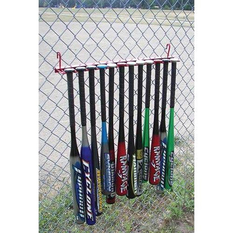 12 Bat Fence Rack - Ohio Fitness Garage - Olympia -Baseball Bat & Helmet Racks Equipment
