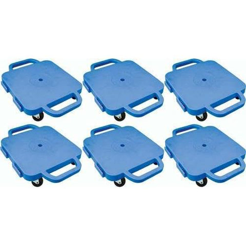 "12"" Curved-Handle Connect-A-Scooters - Set of 6 Blue - Ohio Fitness Garage - Olympia -Curved-Handle Connect-A-Scooter"" Sets Equipment"