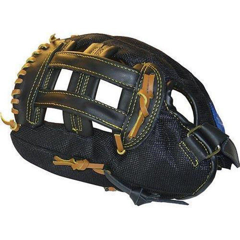 "12"" Leather/Nylon Mesh Glove - Left Handed - Ohio Fitness Garage - Olympia -Gloves, Baseball/Softball Equipment"