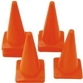 "12"" Poly Cones - Orange (Set or 18) - Ohio Fitness Garage - Olympia -Lightweight Poly Cones Equipment"