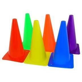 "12"" Poly Cones - Set of 6 Colors - Ohio Fitness Garage - Olympia -Lightweight Poly Cones Equipment"