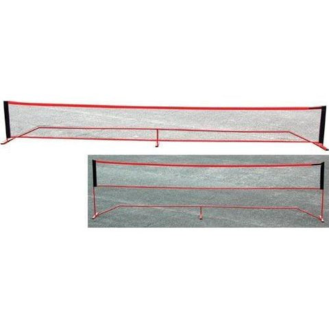 "14' Wide x 61""H Port-A-Net - Ohio Fitness Garage - Olympia -Portable Tennis Net Systems Equipment"