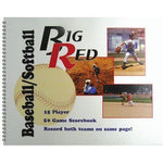 15 Player Baseball/Softball Scorebook - Ohio Fitness Garage - Olympia -Big Red Scorebooks Equipment