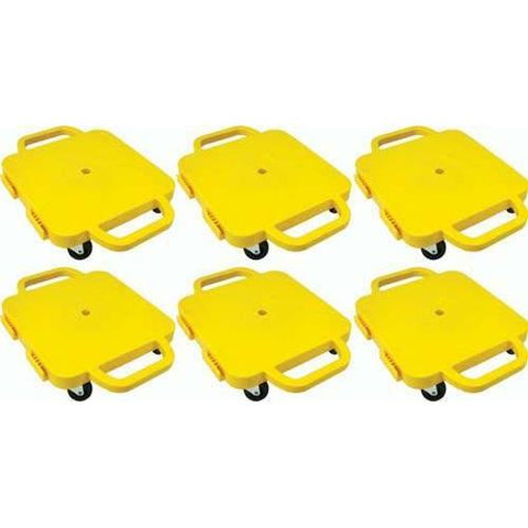 "16"" Curved-Handle Connect-A-Scooters - Set of 6 Yellow - Ohio Fitness Garage - Olympia -Curved-Handle Connect-A-Scooter"" Sets Equipment"