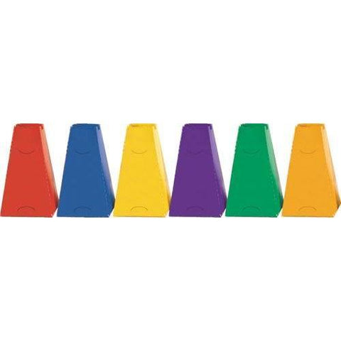 "16"" Pyramid Cones - Set of 6 Colors - Ohio Fitness Garage - Olympia -Pyramid Cones Equipment"