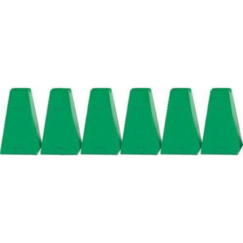 "16"" Pyramid Cones (Set of 6) - Green"