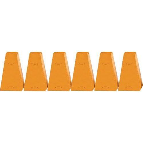 "16"" Pyramid Cones (Set of 6) - Orange - Ohio Fitness Garage - Olympia -Pyramid Cones Equipment"