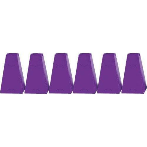 "16"" Pyramid Cones (Set of 6) - Purple"