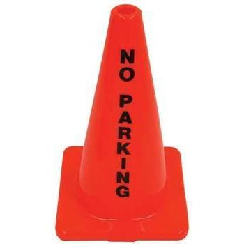"18"" Message Cone - No Parking - Ohio Fitness Garage - Olympia -Message Cones Equipment"