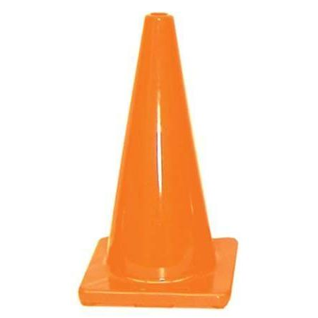 "18"" Traffic Cone - Orange - Ohio Fitness Garage - Olympia -Colored Flexible & Heavyweight Cones Equipment"