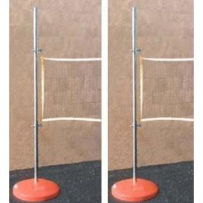 2 Fillable Game Bases with 6' Poles & Slides