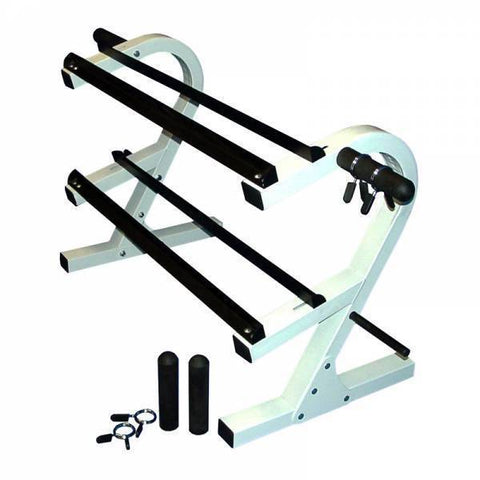 2 Tier 44″ Dumbbell Rack w/ Plate Holders - Ader Fitness