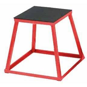 "24"" Red Steel Plyo box For Plyometric training - Ohio Fitness Garage - Olympia -Deluxe Steel Plyoboxes Equipment"