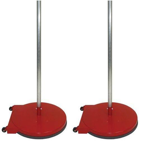 "24"" Dome Base Game Standards w/ Wheels - Red - Ohio Fitness Garage - Olympia -24"" Dome Base Standards w/ Wheels Equipment"