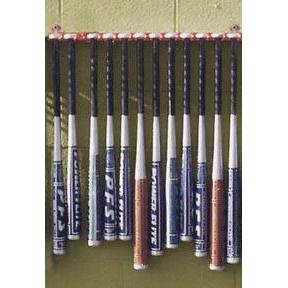"26"" Wall-Mount Baseball Bat Rack - Ohio Fitness Garage - Olympia -Baseball Bat & Helmet Racks Equipment"